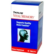 TWINLAB VITAL MEMORY TABLETS (45ТАБ.)