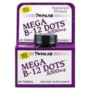 TWINLAB MEGA B-12 DOTS 5000 MCG (60 ТАБ.)